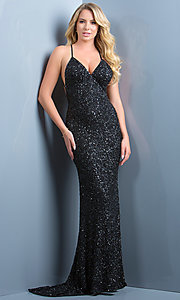 Long Prom Dress Style: Scala-47551 Detail Image 8