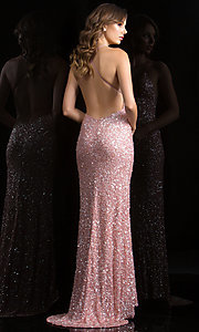 Long Prom Dress Style: Scala-47551 Back Image