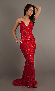 Long Prom Dress Style: Scala-47551 Detail Image 7