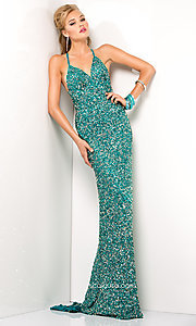 Long Prom Dress Style: Scala-47551 Detail Image 5