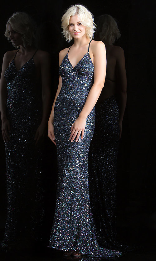 Long Prom Dress Style: Scala-47551 Detail Image 1