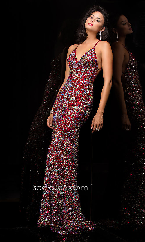 Long Prom Dress Style: Scala-47551 Detail Image 4